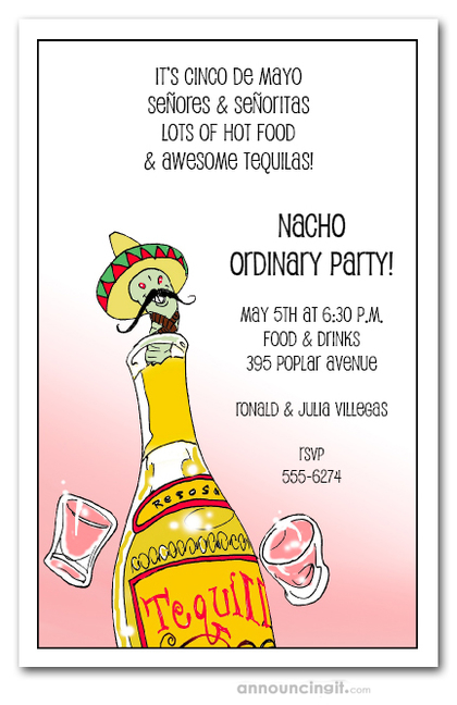 Tequila Worm Party Invitations
