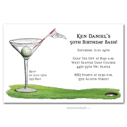 19th Hole Martini Party Invitations