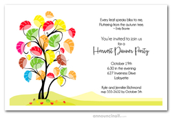 Abstract Autumn Tree Invitations
