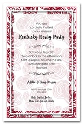 Abstract Red Roses Kentucky Derby Invitations