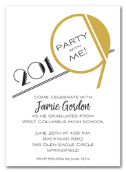 Art Deco Gold 2019 Graduation Party Invitations