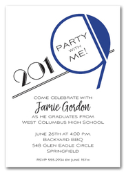 Art Deco Blue 2019 Graduation Party Invitations