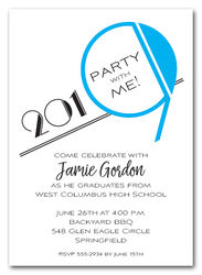 Art Deco Turquoise 2019 Graduation Party Invitations