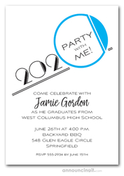 Art Deco Turquoise Graduation Party Invitations