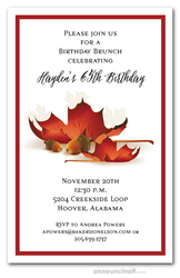 Autumn Acorns and Leaves Invitations