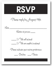 White & Black RSVP Card #3