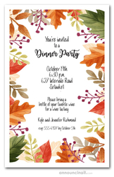 Beautiful Autumn Leaves Invitations