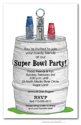 The Keg Super Bowl Party Invitations