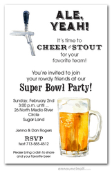Beer and Tapper Super Bowl Party Invitations