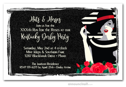 Lady on Stripes Kentucky Derby Invitations