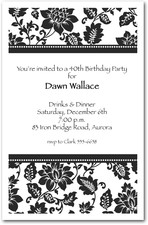 Black Damask Birthday