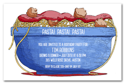 italian party invitations italian food invitations