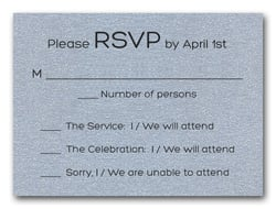 Shimmery Silver Bold Bar Mitzvah RSVP