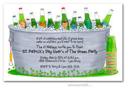 Bucket of Green Beer St. Patrick's Invites