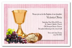 Chalice & Bread on Pink Baptism