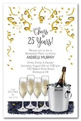 Champagne Bucket  Party Invitations