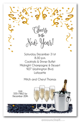 Champagne Bucket New Year's Invitations