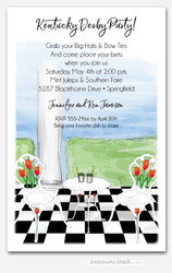 Check Patio Floor Julep Time Invitations