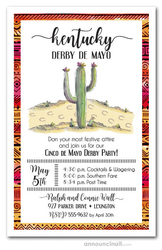Cactus Kentucky Derby de Mayo Invitations