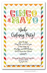 Cinco de Mayo Chevron Invitations
