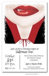 Vampire Smile Halloween Party Invitations