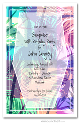 Colorful Palm Trees Party Invitations