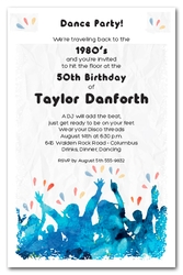 Cheering Crowd Silhouettes Party Invitations