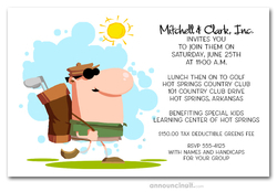 Day on the Links Golf Invitations