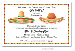 Dos Sombreros Party Invitations