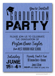 Shimmery Blue Dotted Graduation Party Invitations