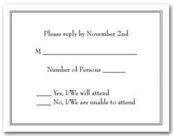 Double Black Border RSVP Cards #2