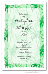 Green Palm Trees Party Invitations