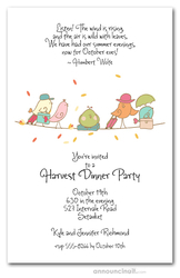 Fall Bird Migration Invitations