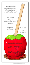 Candy Apple Invitations