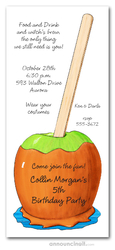 Caramel Apple Fall Invitations