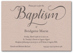 Baptism invitations christening invitations shimmery mink fanciful baptism stopboris Images