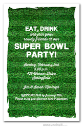Super Bowl Invitations Football Party Invitations