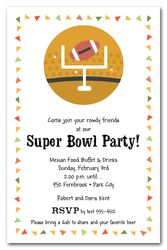 Taco Chips & Football Super Bowl Party Invitations