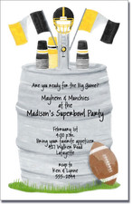 Football Keg - Gold & Black