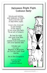 Frankenstein Lives Halloween Invitations