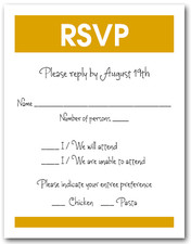 White & Goldenrod RSVP Card #3