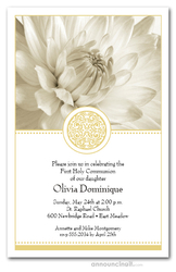 Golden Elegance Communion Invitations