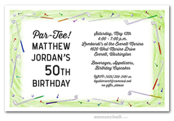 Golf Border Party Invitations