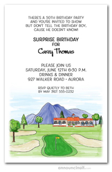 Clubhouse Golf Outing Invitations