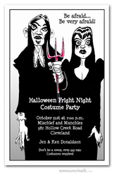 Goth Couple Halloween Party Invitations