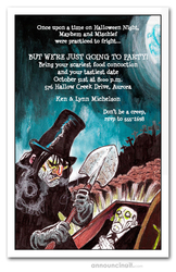 Halloween Grave Robber Invitations