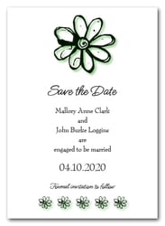 Green Daisy Save the Date