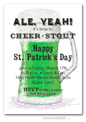 Green Draft Beer St. Patrick's Day Invites
