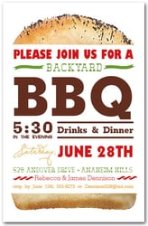 Tall Hamburger BBQ Party Invitations