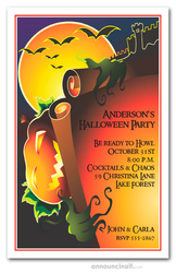 Evil Jack Halloween Invitations